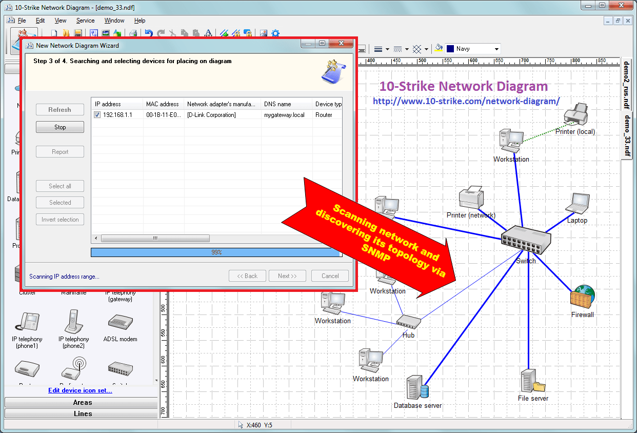 10 strike network diagram software for creating topology diagrams how to create a network diagram click to open a fullsize image ccuart Images