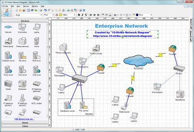 Click to view 10-Strike Network Diagram 2.7 screenshot