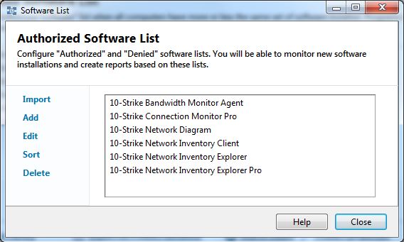 Allowed software list setupg the window that appears will display the list of authorized programs ccuart Image collections
