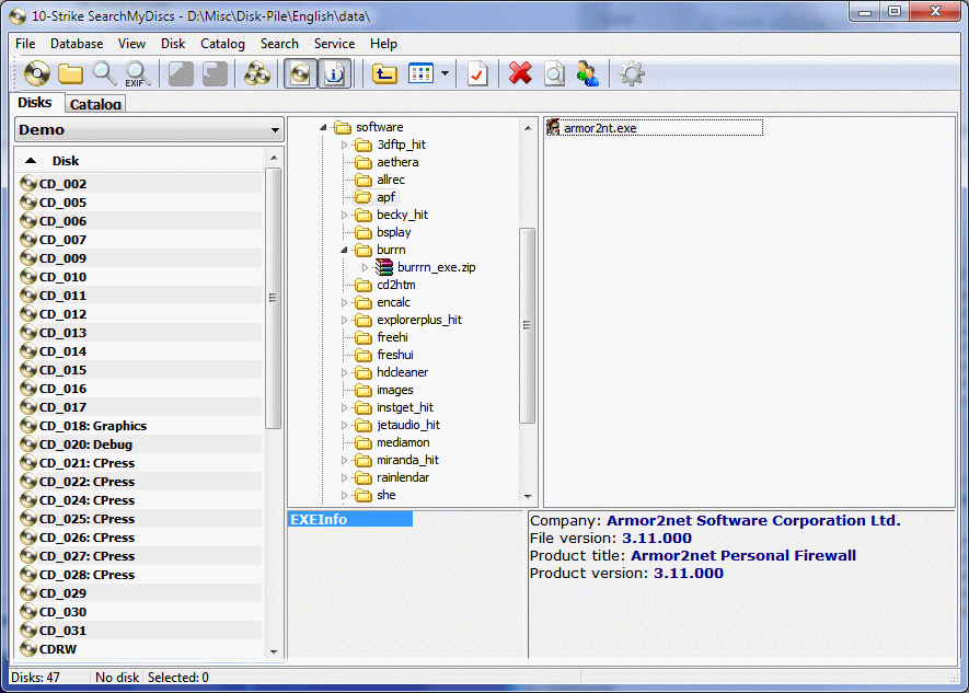 10-Strike.SearchMyDiscs.3.61- منظم أقراص برامجك (الإصدار